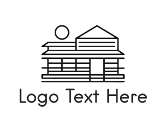 Bed And Breakfast - Black Cabin logo design