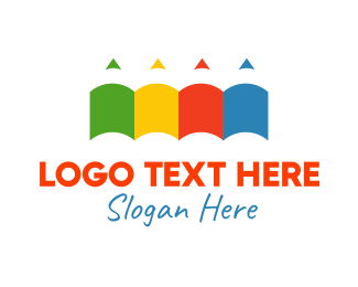 Colorful Pencils Logo
