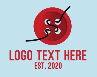 Fashion Designer - Red Button logo design
