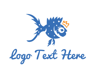Fish - King Fish logo design