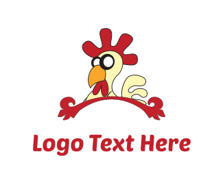 Farm - Chicken Cartoon logo design