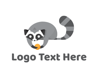 Gray - Cute Raccoon logo design