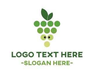 Restaurant - Green Nerd Grapes logo design