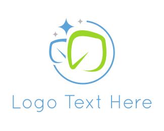 Shine - Clean Leaves logo design