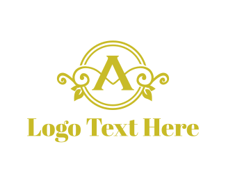 Winery - Floral Letter A logo design