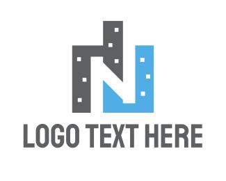 Estate - N Buildings logo design