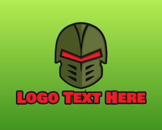 Army - Warrior Helmet logo design