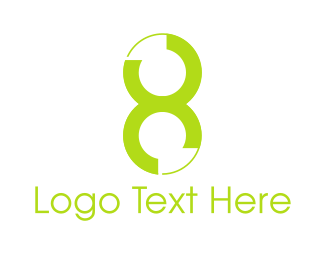 Octagon - Green Number 8 logo design