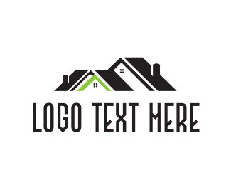 Roofing - Green Roof logo design