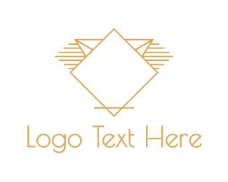 Golden - Golden Diamond logo design