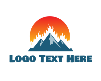 Mountain - Burning Mountain logo design