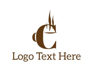 Coffee Letter E Logo
