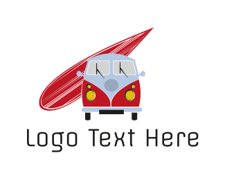 Surfboard - Surf Van logo design
