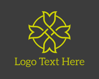 Hair Dresser - Tulip Circle logo design