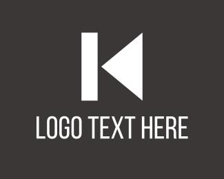 Pause - K Music Play Back logo design