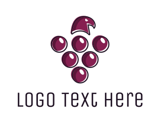 Grapevine - Grape Hawk logo design