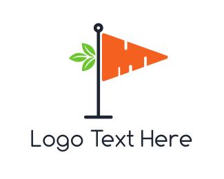Mini Golf - Carrot Flag logo design