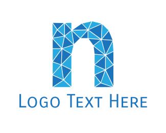 """Blue Letter N"" by user1468927974"