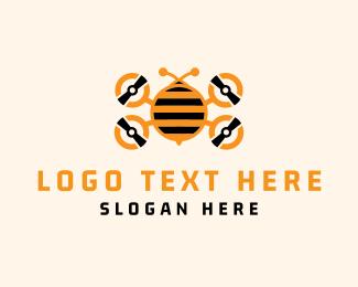Wasp - Bee Drone logo design