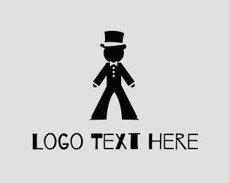 Bow - Gentlemen Tux Hat logo design