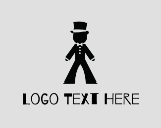 Bow - Gentlemen Tux Hat logo design