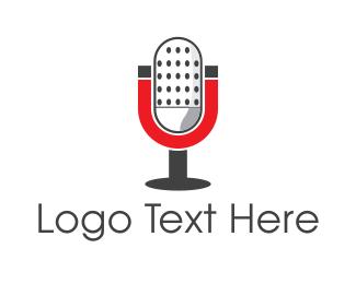 Speech - Magnetic Microphone logo design