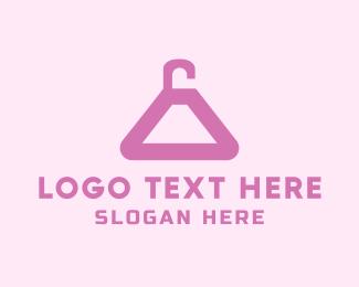 Dry Cleaner - Black Hanger logo design