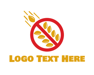 Warning - No Carbs logo design