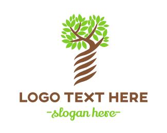 Ancestry - Screw Tree logo design