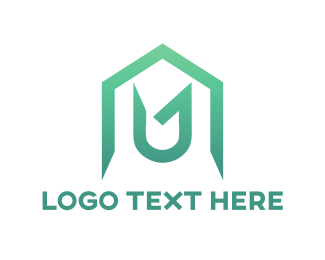 Architectural - House Letter U logo design