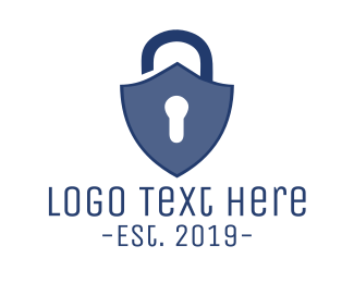 Secure - Lock Shield logo design