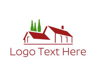 House - Big Red House logo design