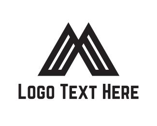Hill - Volcano Letter M logo design