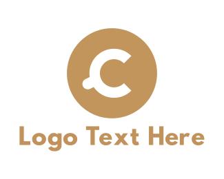 Letter C - Minimalist Coffee Cup logo design