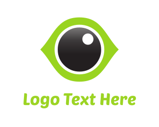 Visual - Green Eye logo design