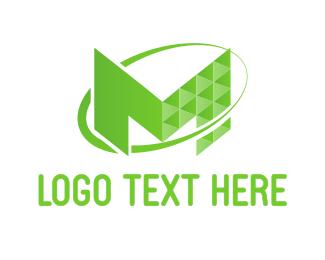 Underground - Tech Letter M logo design