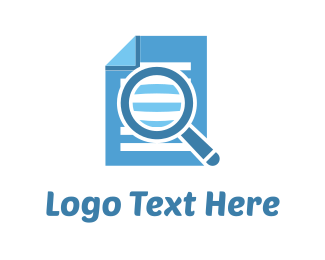 Search - Document Finder logo design