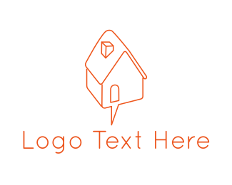 Airbnb - House Chat logo design