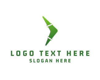 Bamboo - Green Boomerang logo design