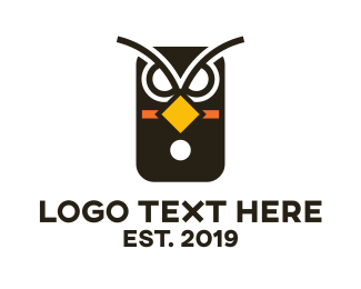 Phone - Owl Phone  logo design