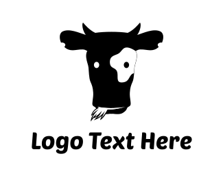 Moo - Black Cow logo design
