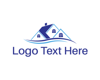Townhouses - Blue House logo design