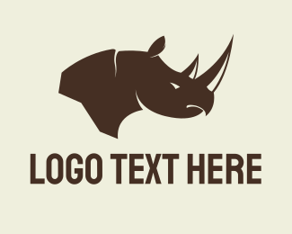 Safari - Brown Rhino logo design