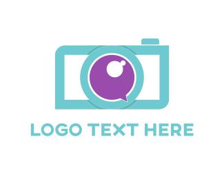 Zoom - Blue & Purple Camera logo design