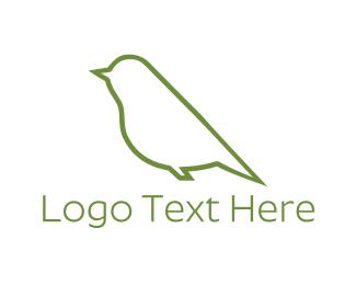 Swallow - Green Bird logo design
