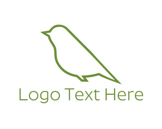 Chickadee - Green Bird logo design