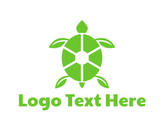 Reptile - Eco Turtle logo design