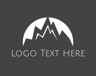 Hill - White Mountain Peaks logo design