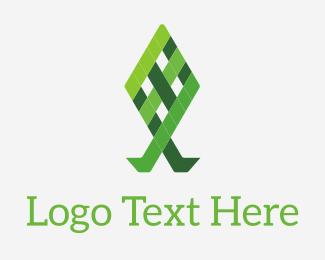 Grid - Green Grid Fish logo design