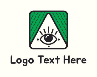 God - Triangle & Eye logo design